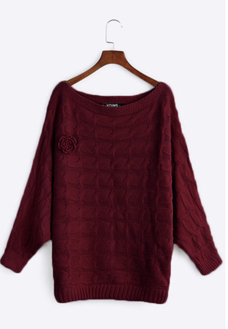 burgundy winter sweater